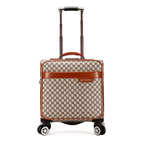 XDD Business Rolling Tote Koffer 18 Zoll PU Rolling Laptop-Tasche Reisetasche Rolling Aktentasche für Unisex Anti-Theft Wheeled Business Carry-On Tote Geeignet für Business Travel Academy,G