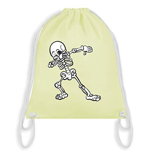 Halloween - Dabbing Skelett - Unisize - Pastell Gelb - WM110 - Turnbeutel & Gym ()