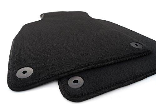 kh Teile - Tappetini per posti anteriori in velluto per auto per Audi A4 S4 RS4 (B6/B7), qualità originale, confezione da 2 pezzi, colore: nero