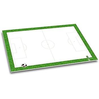 itenga Schreibtischunterlage Fußball DIN A3 50 Blatt Fußballfeld Fußballschuhe