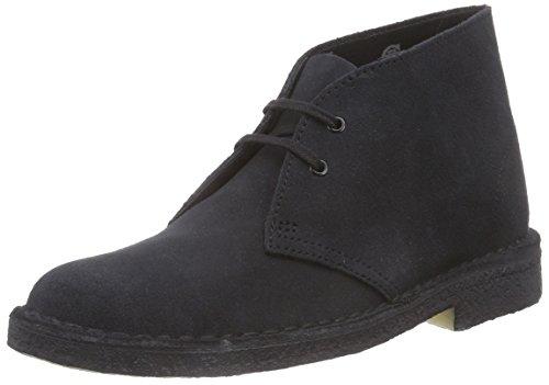 Clarks Originals - Desert Boot - Chaussures de ville à lacets, Bleu - Bleu marine Suede, 38