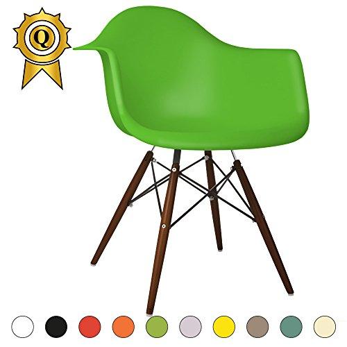 verkauf-1-x-design-stuhl-eiffel-stil-walnussholz-beine-und-sitz-farbe-gruner-flash-mobistylr-dawd-vf