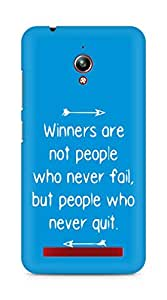 AMEZ but people who never quit Back Cover For Asus Zenfone Go ZC500TG