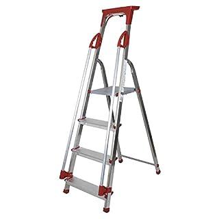 Abbey Aluminium Safety Platform Step Ladder With Handrail & Tool Tray 4 Tread
