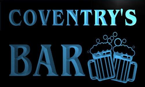 w030237-b COVENTRY Name Home Bar Pub Beer Mugs Cheers Neon Light Sign Barlicht Neonlicht Lichtwerbung (Coventry Bar)