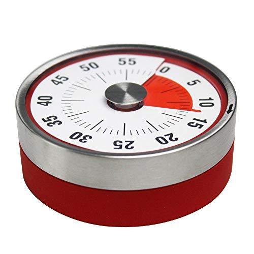 TOOGOO Magnétique Mécanique Minuterie De Rotation 60 Minutes Record De Capacité Compteur Alarme Bruyant Sonne Bague Fonctionne Quand Le Temps Est Arrivé pour Chronométreur
