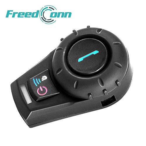 Freedconn, sistema di comunicazione Bluetooth fdcvb per casco da motociclo, per sciare, con portata di 800m. 2 fino a 3 canali, in nero