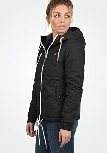 DESIRES Tilda Damen Übergangsjacke Jacke gefüttert mit Kapuze, Größe:XS, Farbe:Black (9000) - 3
