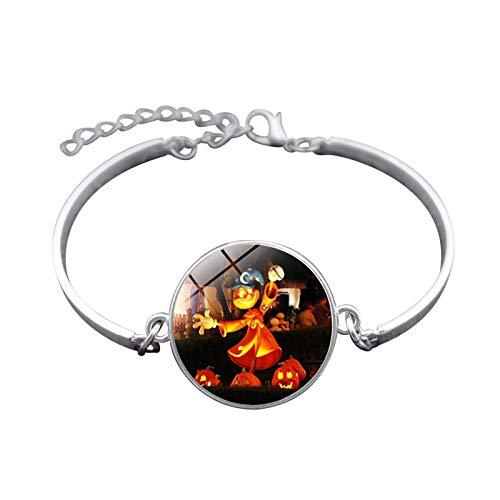 Blisfille Handgemachte Halloween Hexe Zeit Gem Armband Silber-Legierung Armband Armband Herren Damen Schmuck (Herr Innereien Kostüm)