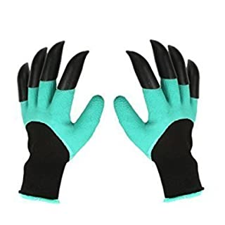 Garden Gloves With Claws, Great for Digging Weeding Seeding poking -Safe for Rose Pruning -Best Gardening Tool -Best Gift for Gardeners (Double Claw)