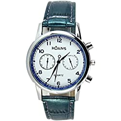 Watch - HUANS Men's Watch Leather Band Analog Quartz Date Business Wrist Watch Colour:Blue