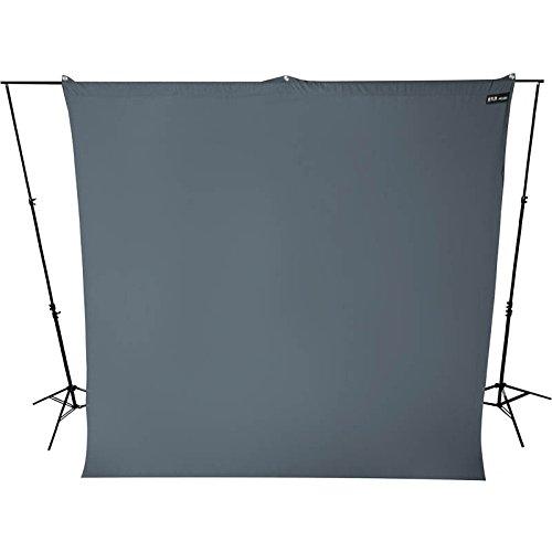 Westcott Hintergrundstoff 270 x 300 cm - Neutralgrau - für Foto und Video verwendbar mit Hintergrundsystem Fotohintergrund Stoffhintergrund Westcott Video