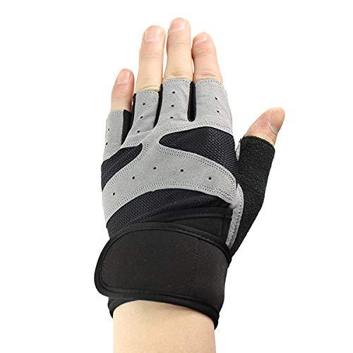 Llzgpzst guanti tattici guanti da sollevamento pesi senza dita guanti da palestra per dita mezze dita traspiranti fitness training da allenamento antiscivolo con supporto per la vita