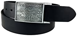 Levis Mens Bridle Leather Belt, Black, 34
