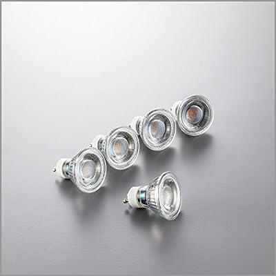 LED Lampe | GU10 | LED Birne 5 Watt | Glühbirne 400 Lumen | Leuchtmittel ersetzt Halogen 50 Watt | warmweiss 3000K | Abstrahlwinkel 36°
