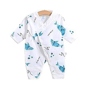 Gespout Mono de Gasa Doble de Algodón Han Kimono Mono de Bebé Mameluco Ropa Infantil Pijamas Cómodos 6