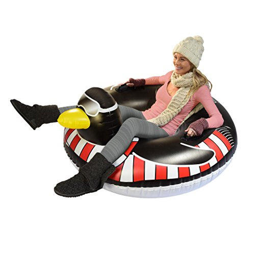 gofloats Winter Snow Tube Toboggan – Die ultimative Schlitten &, ST-PENGUIN-01