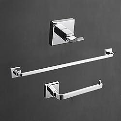 Lightinthebox Wandhalterung Zeitgenössische massivem Messing Chrome Finish Kleiderhaken und Handtuchring und Handtuchstange 3PCS Bad Collection Set WC Dusche Möbel Handtuchhalter Racks und Steht