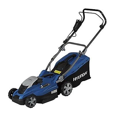 HYUNDAI Elektro-Rasenmäher LM3601E (1600W, Schnittbreite 36 cm, 45L Fangkorb, zentrale Höhenverstellung 20-70 mm, Elektro-Mäher)