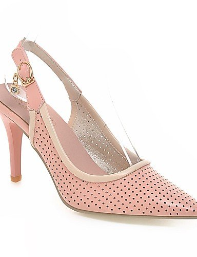 WSS 2016 Chaussures Femme-Mariage / Habillé-Rose / Violet / Blanc-Talon Aiguille-Talons / Bout Pointu-Talons-Similicuir pink-us8 / eu39 / uk6 / cn39