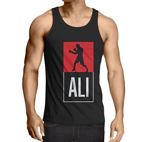 Camisetas de Tirantes para Hombre Boxeo - en el Estilo de Lucha para Entrenamiento, Deportes, Ejercicio, Funcionamiento, Ropa de Fitness (Large Negro