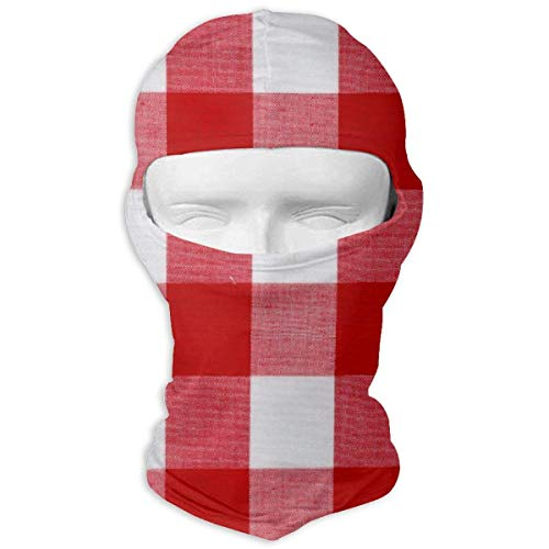 Wdskbg Ski Mask Red Buffalo Plaid Sun UV Protection Dust Protection Wind-Resistant Face Mask for Running Cycling Fishing Multicolor8 - Buffalo Plaid Fleece