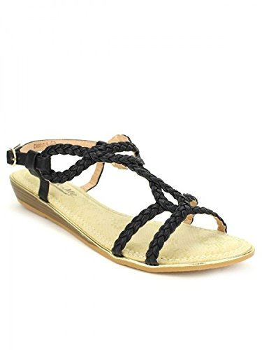 Cendriyon, Sandales noires CINKS ME LOOK Chaussures Femme Noir