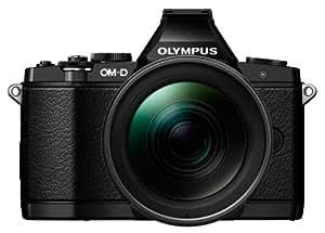 Olympus OM-D E-M5 Digitalkamera Pro Kit (16 Megapixel, 7,6 cm (3 Zoll) OLED mit kapazitivem Touchscreen, bildstabilisiert) inkl. M.Zuiko ED 12-40 mm 1:2.8 Pro Objektiv schwarz