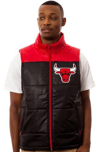 Chicago Bulls Mitchell & Ness Winning Team Throwback Snap Vest Jacket - Black Test