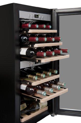 La Sommelière ECS25.2Z Weinkühlschrank / 87,0 cm Höhe/Zweizonen Weintemperierschrank mit...