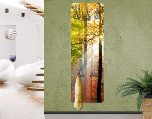 Bilderwelten Flur Garderobe Kleiderhaken Morning Light Braun 139 x 46 cm