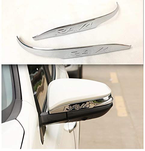 YP ABS Chrom Rückspiegel Dekorative Verkleidung für Toyota RAV4 2013-2018
