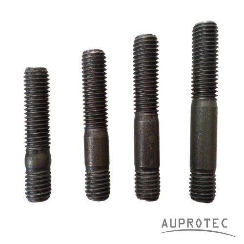 AUPROTEC 10x Stehbolzen Stiftschraube M6 M8 M10 Längen 20-50 mm Auswahl: (M8 x 45 mm)
