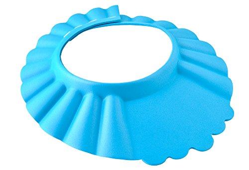 Iso Trade Duschkappe Kinder Baby Badehaube weiche Badekappe Augenschutz Bath Shampoo #1835, Farbe:Blau