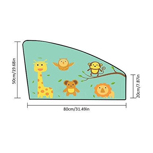 flower 205 Rideau de fenêtre de voiture d'isolation thermique de Sun de pare-soleil de voiture magnétique (H)
