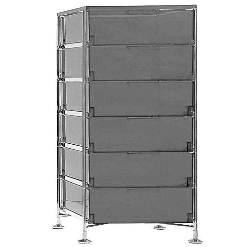 Kartell Mobil Container, Plastik, schwarz, 47.5 x 101 x 49 cm