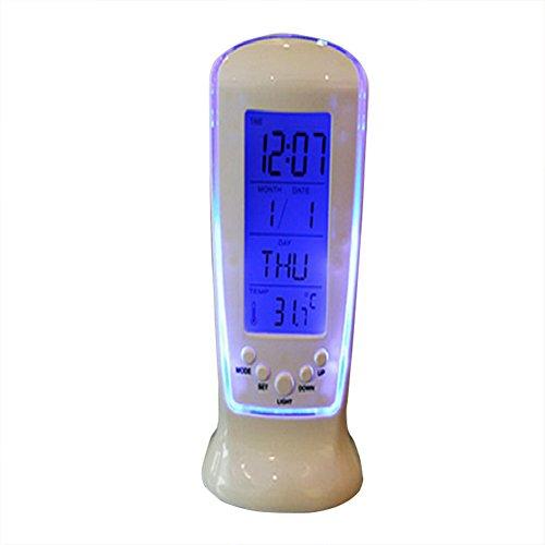 Vi.yo - Reloj despertador digital LED multifuncional con fecha y fecha y visualización de temperatura, luminoso, para la vida cotidiana de los niños en casa o en la oficina