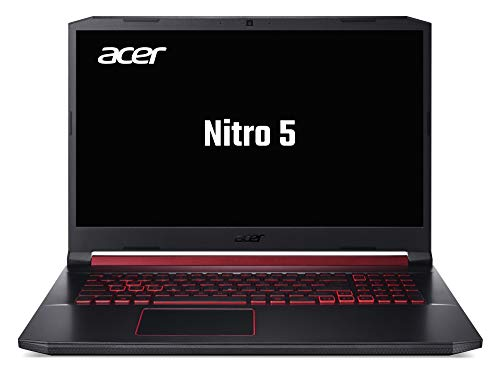 Acer Nitro 5 (AN517-51-52M2) 43,9 cm (17,3 Zoll Full-HD IPS) Gaming Laptop (Intel Core i5-9300H, 8 GB RAM, 1000 GB PCIe SSD, NVIDIA GeForce GTX 1650, Win 10 Home) schwarz/rot