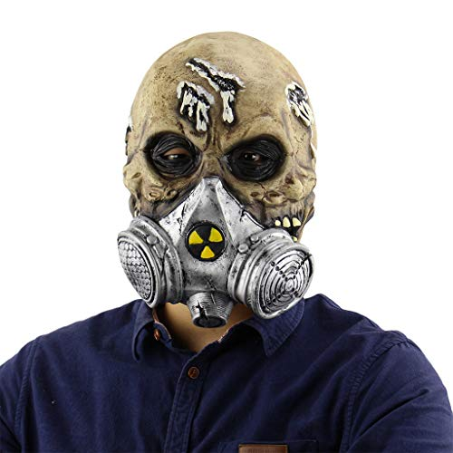 e Zombie Maske Latex Biochemische Monster Maske Halloween Horror Gas Maske Kostümpartys Maskeraden Terror Thema Party,Horror Zombie-OneSize ()