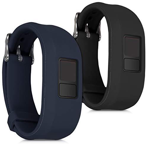 kwmobile Garmin Vivofit 3 Armband - 2X Silikon Fitnesstracker Sportarmband für Garmin Vivofit 3