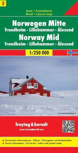 Freytag Berndt Autokarten, Norwegen Mitte - Trondheim - Lillehammer - Ålesund, Blatt 2 - Maßstab 1:250.000