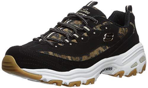 Skechers Damen Sneaker D´Lites Quick Leopard Schwarz, Schuhgröße:EUR 41 -