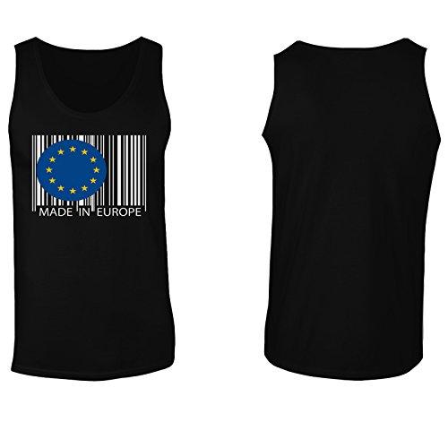 Made In Eu Europa Viaggi Mondo Divertente Della Novità canotta da uomo uu24mt Black