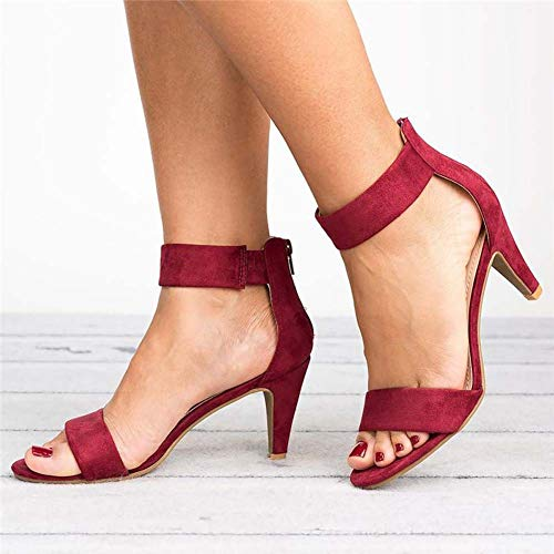 Large Size Summer European and American Style New Sandals Stilettos with a Buckle with Open Toe Sandals