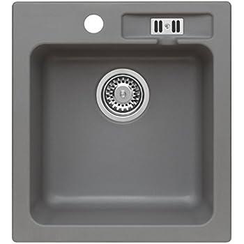 Spülbecken Spüle Küchenspüle Granitspüle Einzelbecken 425 x 500 mm Hitzebständig