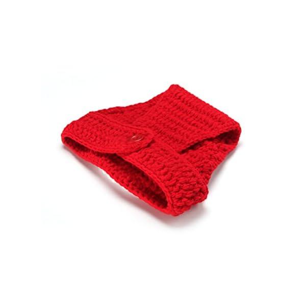 VORCOOL Trajes de bebé para la fotografía Ropa de Ganchillo de Punto Ropa de Fotos de Trajes para 2-9 Meses Bebés (Rojo…