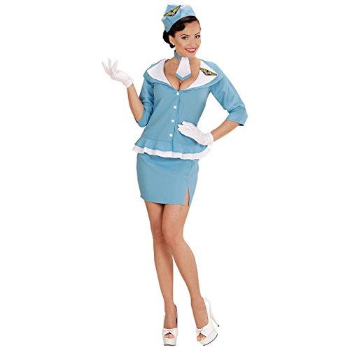 Retro Stewardess Kostüm Damen Uniform S 34/36 Flugbegleiterin Damenkostüm Saftschubse Faschingskostüm Hostess Stewardessen Outfit (Stewardess Kostüme Retro)
