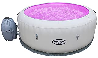 Lay-Z-Spa Paris Hot Tub with LED Lights, AirJet Inflatable Spa, 4-6 Person (B07F2RGJNJ) | Amazon Products