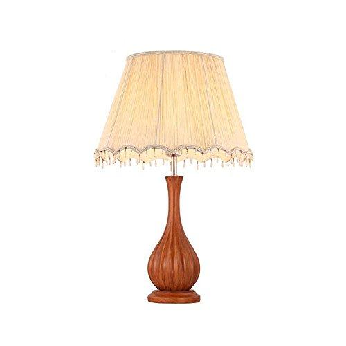 Resina panno nuovo stile classico cinese Simple Warm Wedding Table Lamp Soggiorno Studio da letto comodino Lampada da tavolo [Efficienza: A +] ( colore : Pulsante interruttori , dimensioni : Legno di ciliegio )
