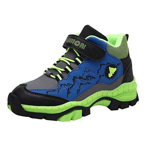 Kinder Unisex Outdoor Freizeit Wasserfeste Mid Trekking Schuhe, Jungen Wildleder Wasserdicht Sneakers Turnschuhe Wanderschuhe, Mädchen Baby Hiking Laufschuhe Shoes Stiefel Traillaufschuhe